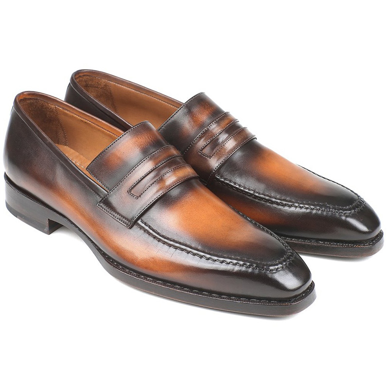 Paul Parkman Calfskin Loafers Burnished Brown Image