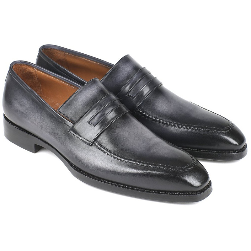 Paul Parkman Calfskin Loafers Burnished Gray Image