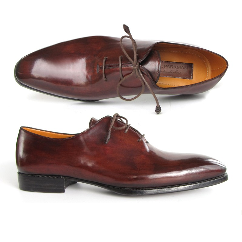 Paul Parkman Calfskin Oxfords Brown / Bordeaux Image