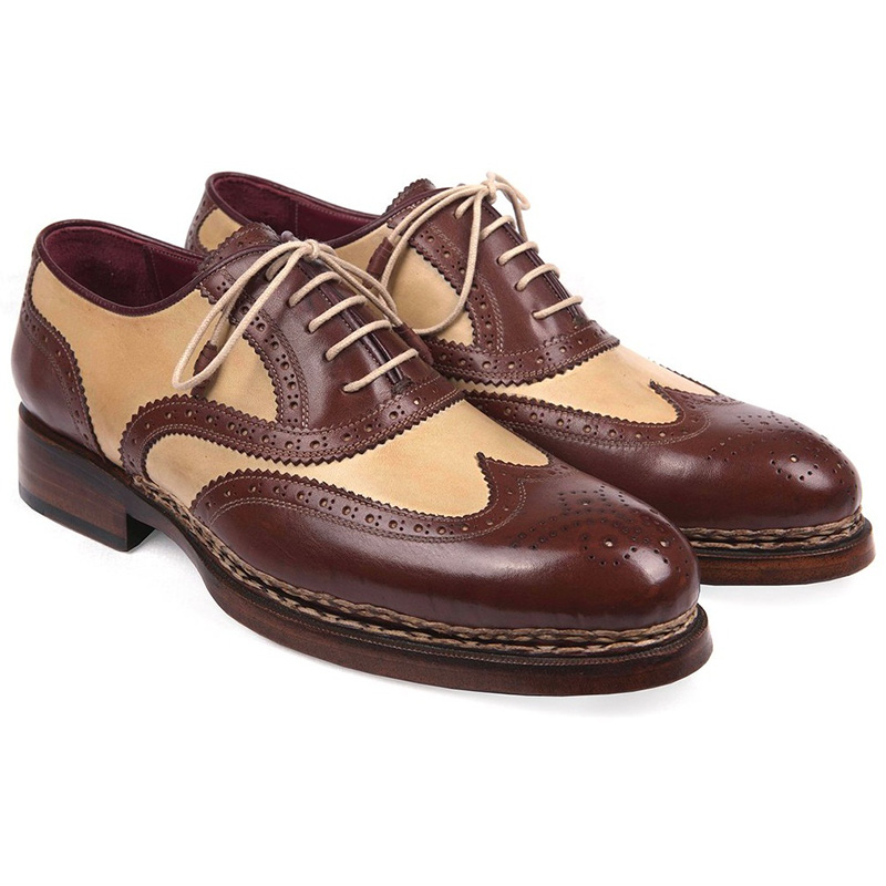 Paul Parkman Calfskin Shoes Beige & Brown Image