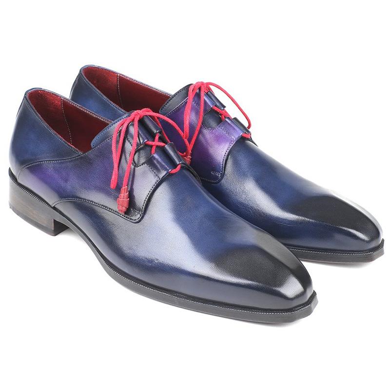 Paul Parkman Calfskin Shoes Blue Image