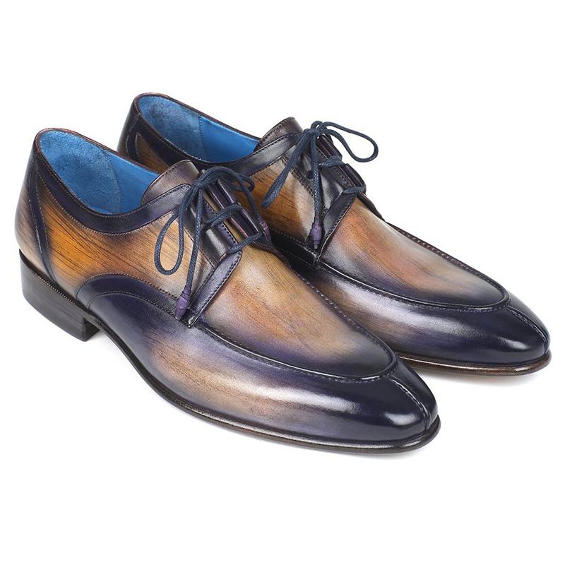 Paul Parkman Calfskin Shoes Camel & Purple Image