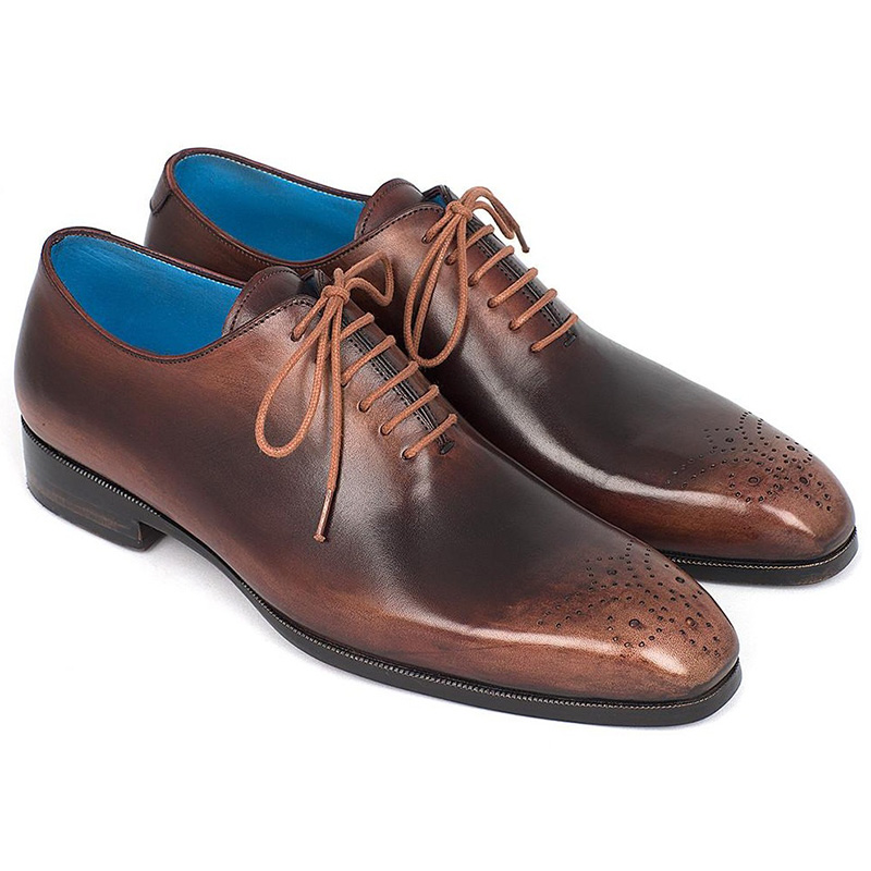 Paul Parkman Calfskin Wholecut Oxfords Shoes Camel & Brown Image