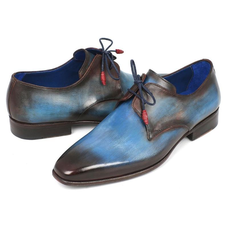 Paul Parkman Derby Shoes Blue / Brown Image