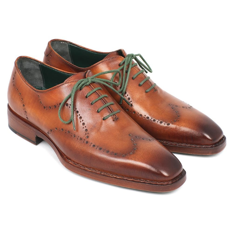 Paul Parkman Goodyear Welted Wingtip Shoes Camel Image