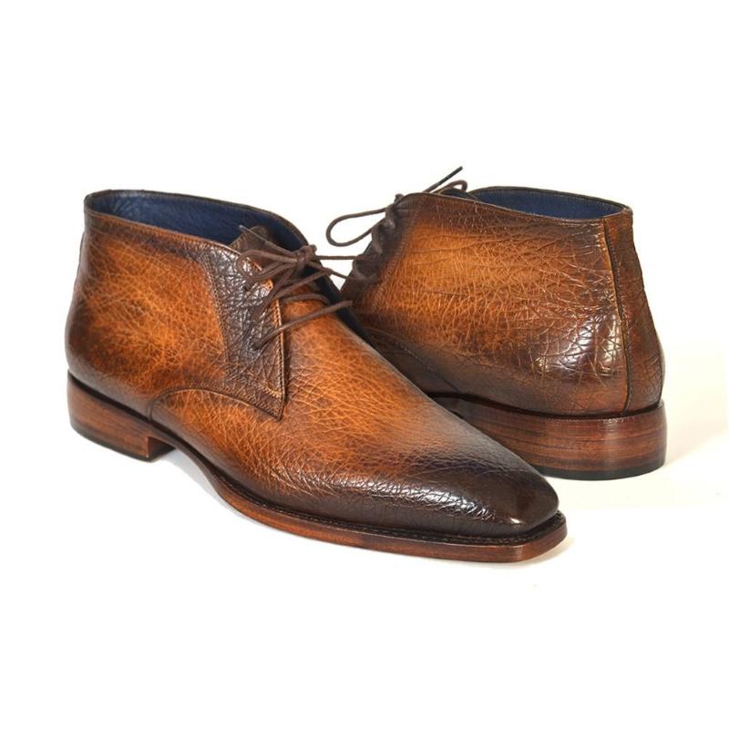 Paul Parkman Grain Leather Chukka Boots Brown / Camel Image