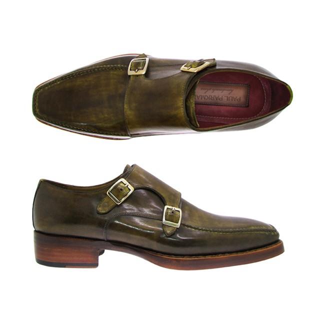 Paul Parkman Double Monk Strap Shoes Green Image