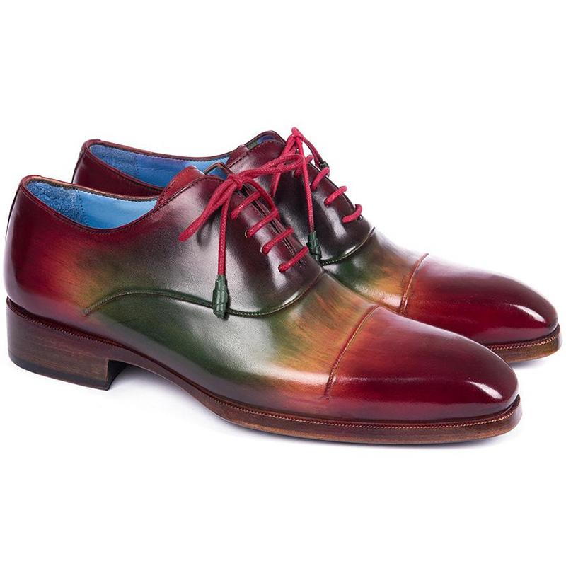 Paul Parkman Leather Captoe Oxfords Multicolor Image