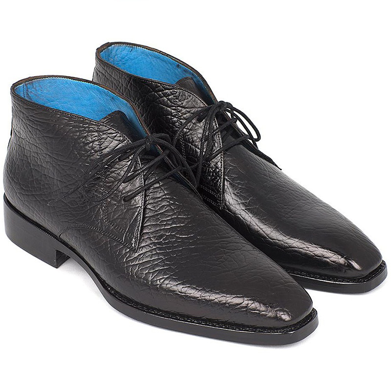 Paul Parkman Leather Chukka Boots Black Image