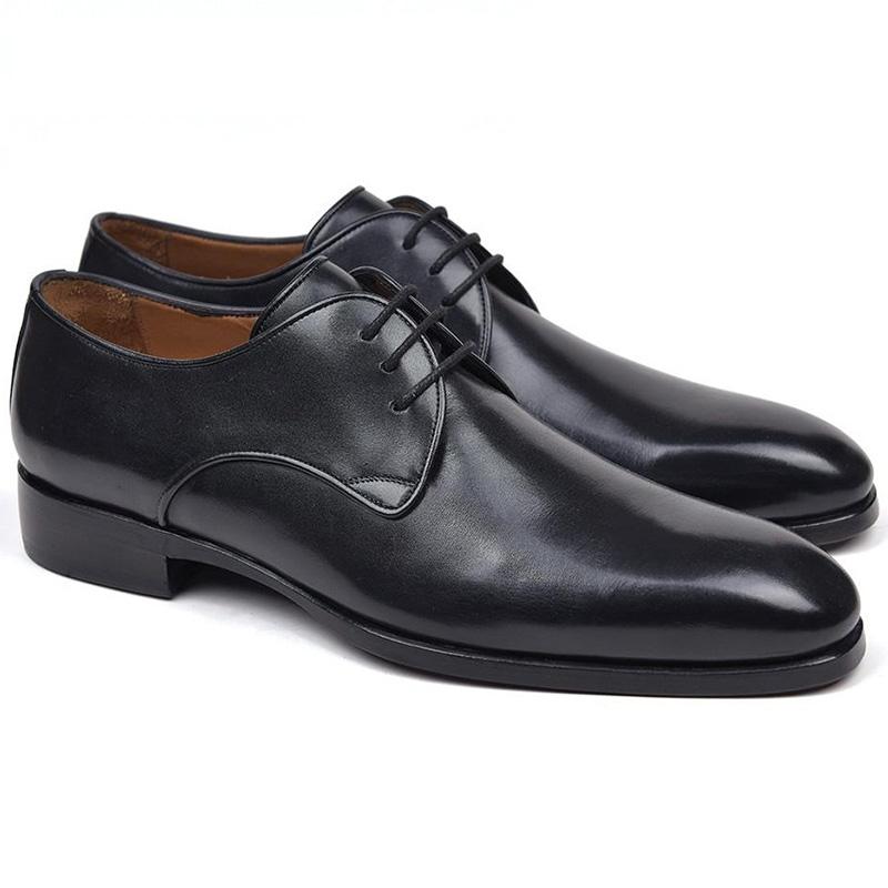 Paul Parkman Leather Derby Shoes Black Image