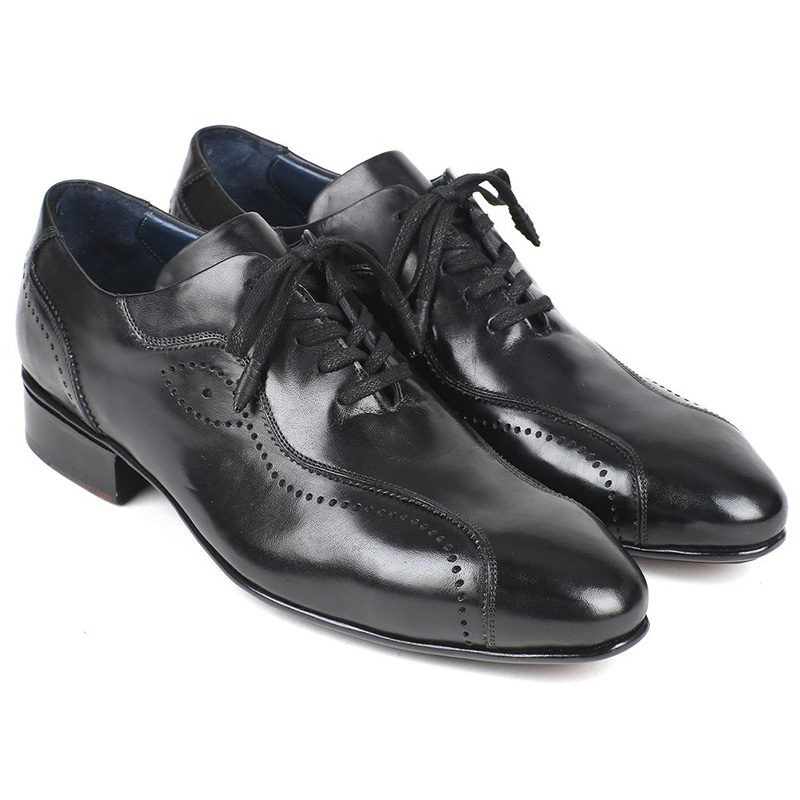 Paul Parkman Leather Lace Up Shoes Black Image