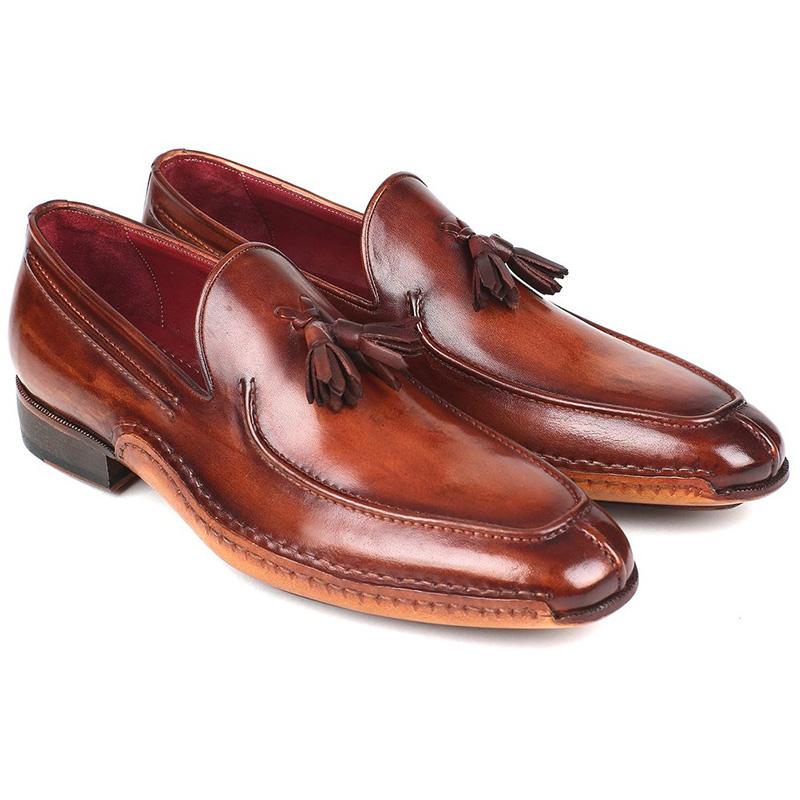 Paul Parkman Leather Tassel Loafers Brown Image