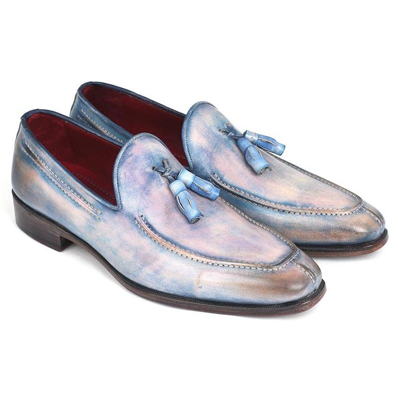 Paul Parkman Leather Tassel Loafers Lila Image