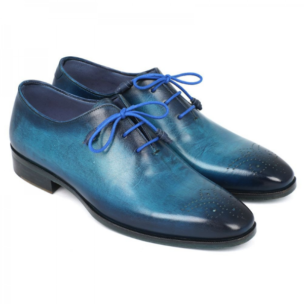 Paul Parkman Medallion Toe Oxfords Blue / Navy Image