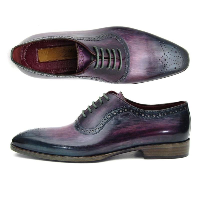 Paul Parkman Medallion Toe Oxfords Purple / Navy Image