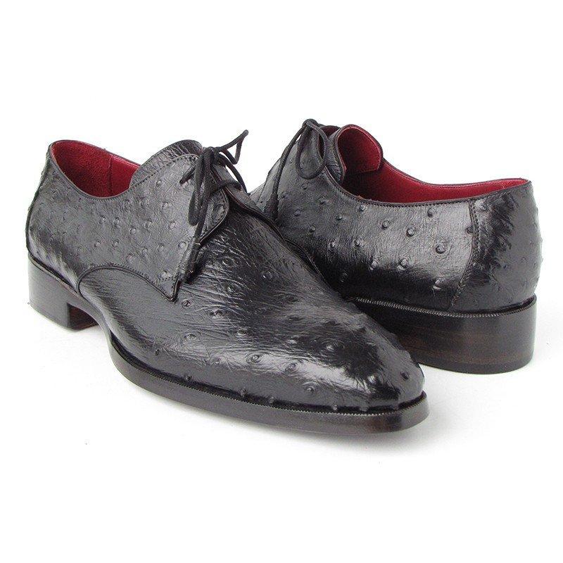 Paul Parkman Ostrich Quill Dress Shoes Black Image