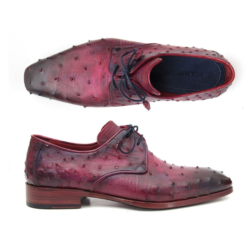 Paul Parkman Ostrich Quill Derby Shoes Lilac Image