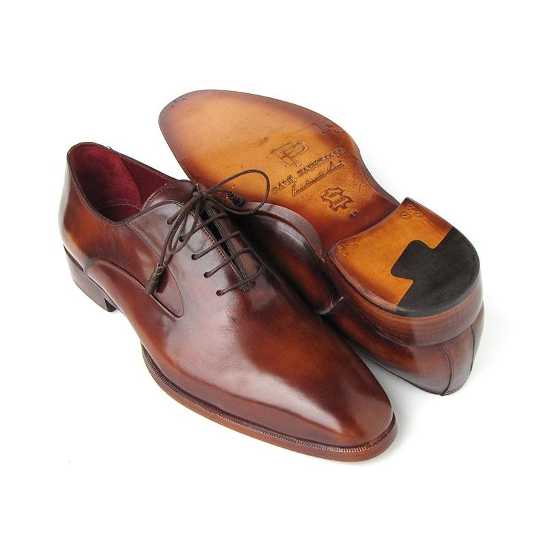Paul Parkman Plain Toe Calfskin Oxfords Brown Image