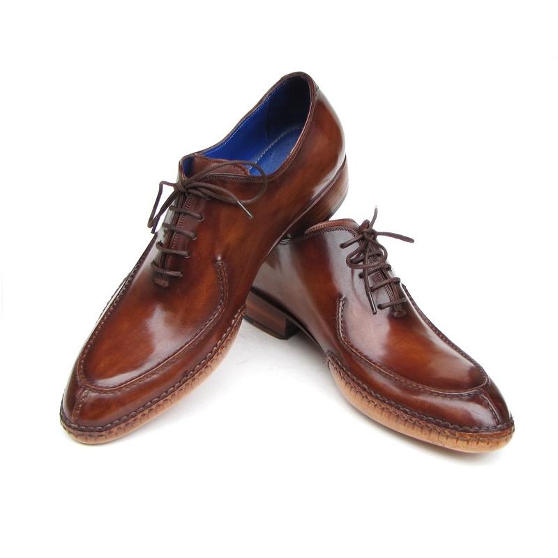 Paul Parkman Side Sewn Split Toe Oxfords Brown Image