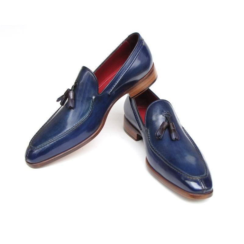 Paul Parkman Split Toe Tassel Loafers Blue Image