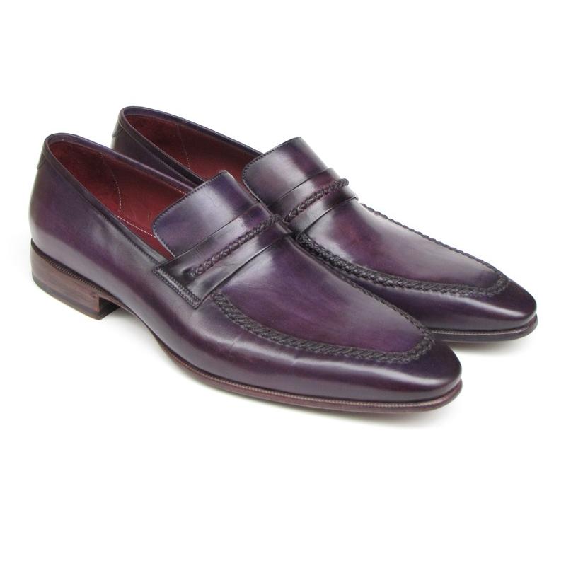 Paul Parkman Strap Loafers Purple Image
