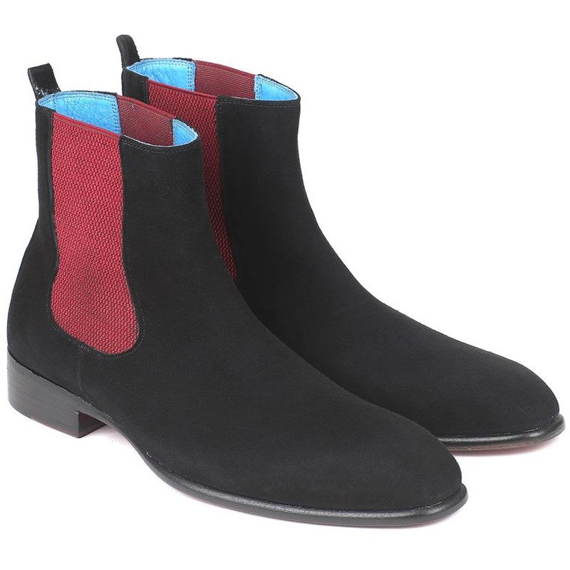 Paul Parkman Suede Chelsea Boots Black Image