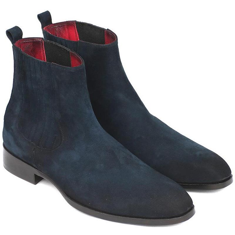 Paul Parkman Suede Chelsea Boots Navy Image