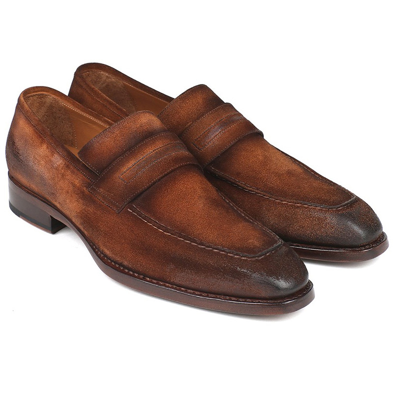 Paul Parkman Suede Loafers Antique Brown Image