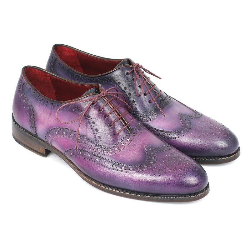 Paul Parkman Wingtip Oxfords Purple / Navy Image