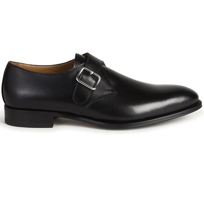 Paul Stuart Brock Monk Strap Shoes Black Image