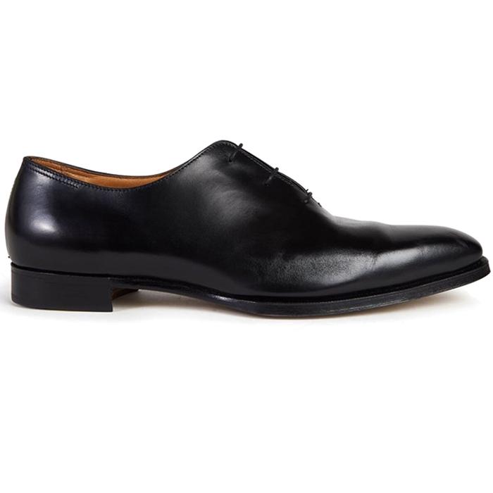 Paul Stuart Wholecut Shoes Black Image