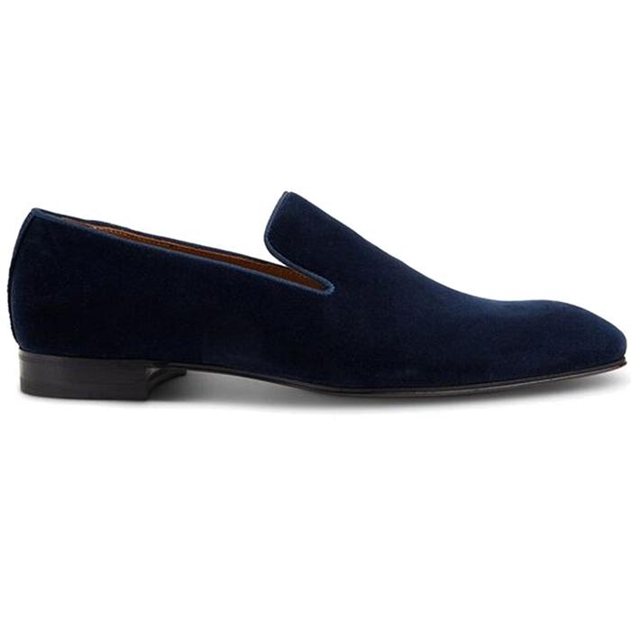 Paul Stuart Harrier III Velvet Shoes Blue  Image