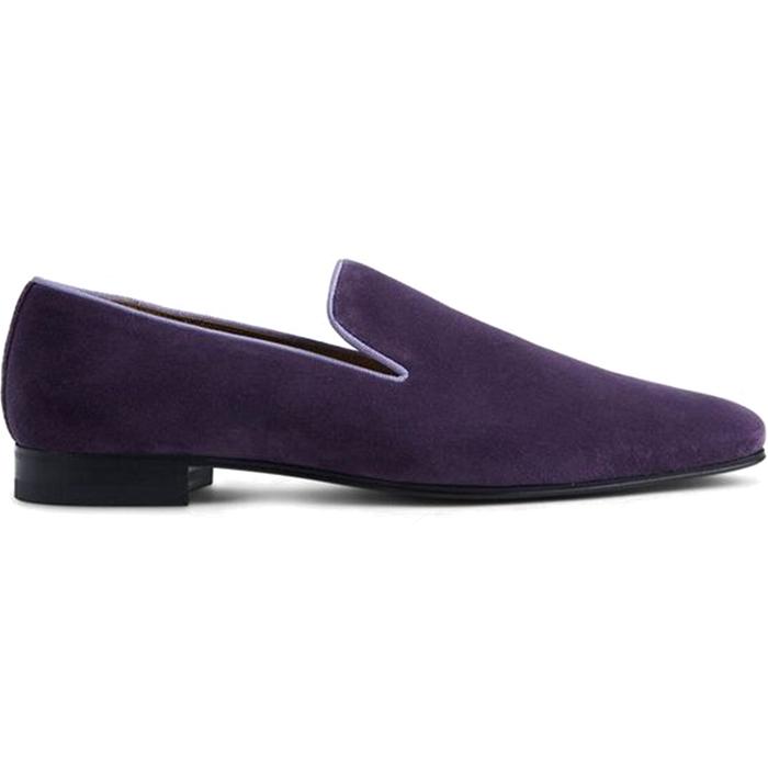 Paul Stuart Harrier III Velvet Shoes Purple Image