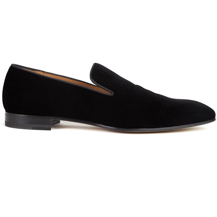 Paul Stuart Harrier Velvet Formal Shoes Black Image