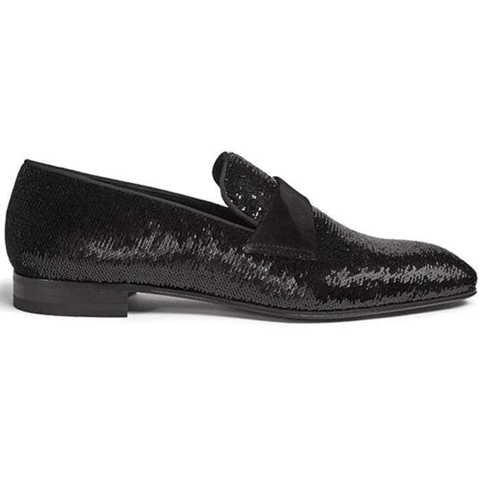 Paul Stuart Heron Formal Sequins Slip On Black Image