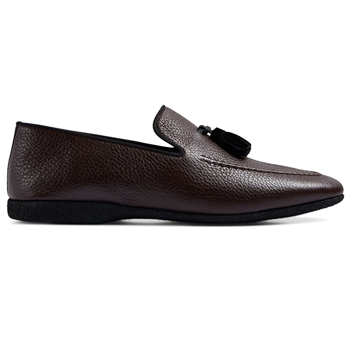 Paul Stuart Hope Leather Slip-On Shoes Brown Image