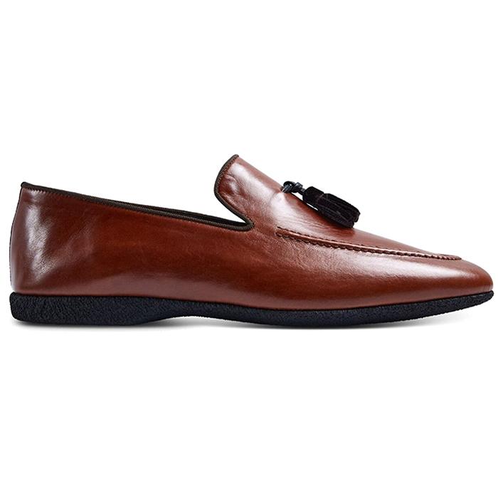 Paul Stuart Hope Leather Slip-On Shoes Light Brown Image