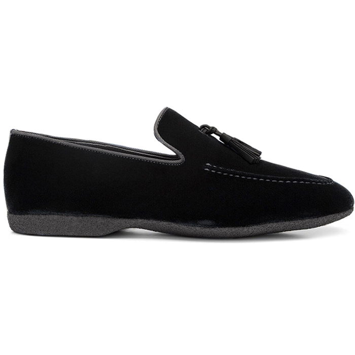 Paul Stuart Hope Velvet Slip-On Black Image