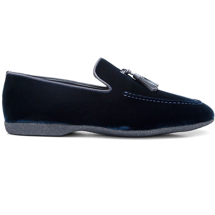 Paul Stuart Hope Velvet Slip-On Blue Image