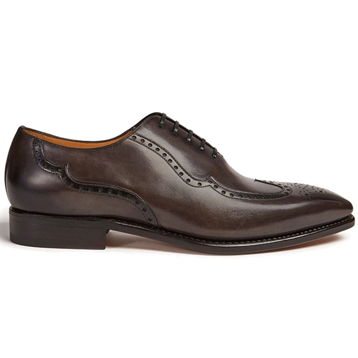 Paul Stuart Milano Wing Tip Shoes Grey Image