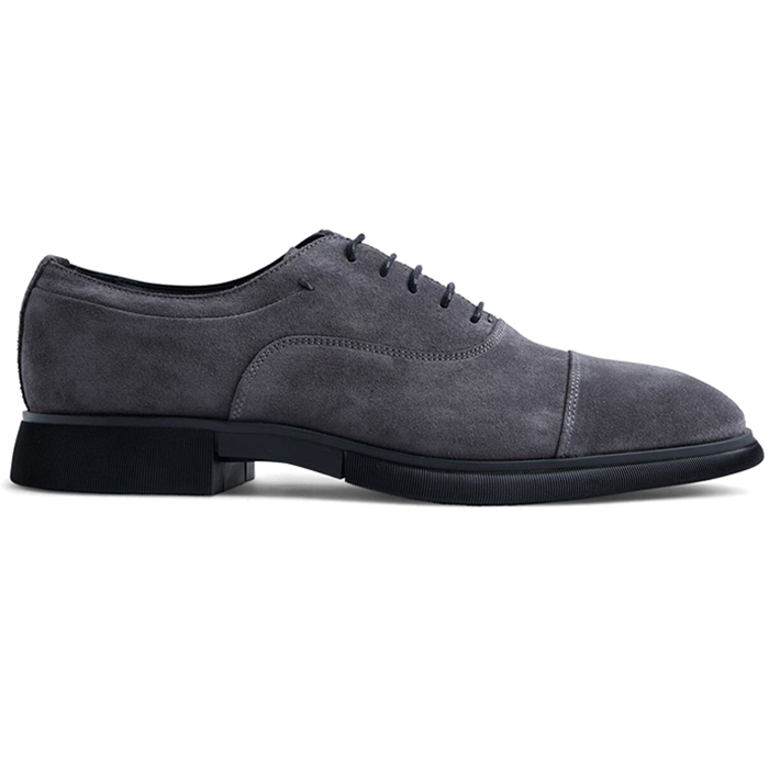 Paul Stuart Montreal Suede Lace-up Bal Oxford Anthracite Image