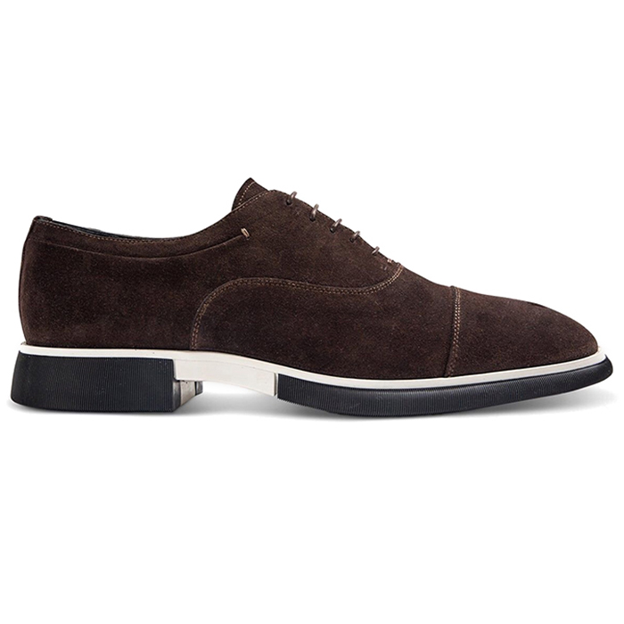 Paul Stuart Montreal Suede Lace-up Bal Oxford Dark Brown Image
