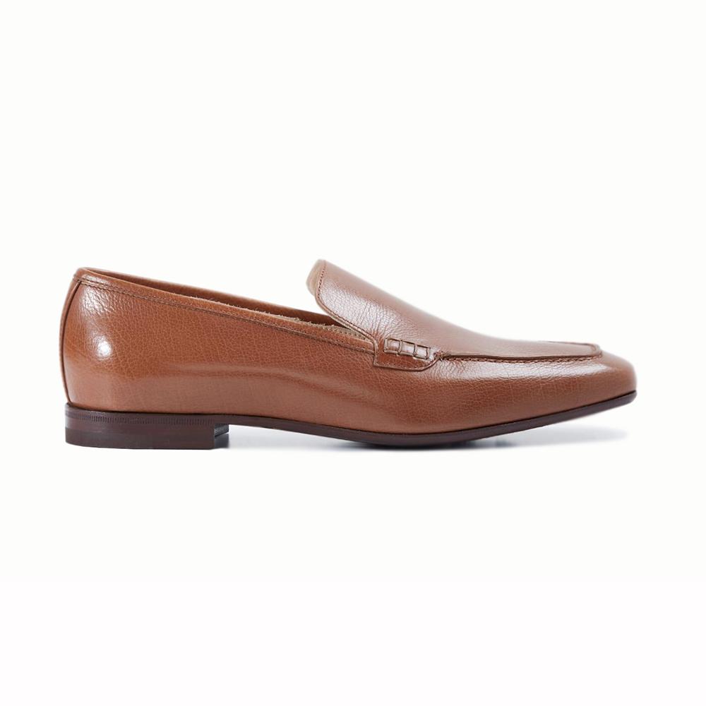 Paul Stuart Paris Slip-on Shoes Cognac Image