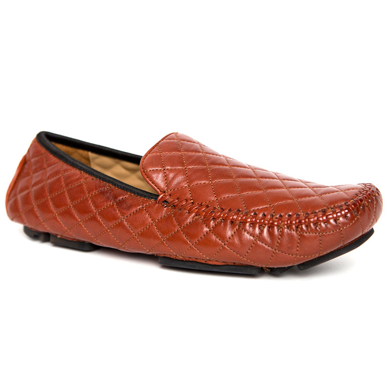 Robert Zur Quinn Slip-on Shoes Vintage Luggage Image