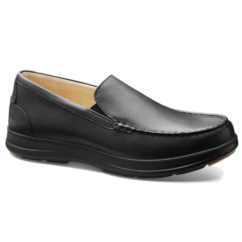 Samuel Hubbard Blue Skies Boat Shoes Black Image