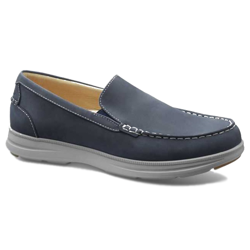 Samuel Hubbard Blue Skies Boat Shoes Driftwood Blue Image
