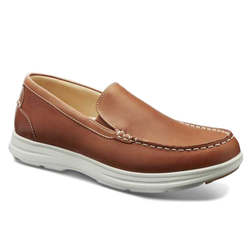 Samuel Hubbard Blue Skies Boat Shoes Saddlebag Tan Image