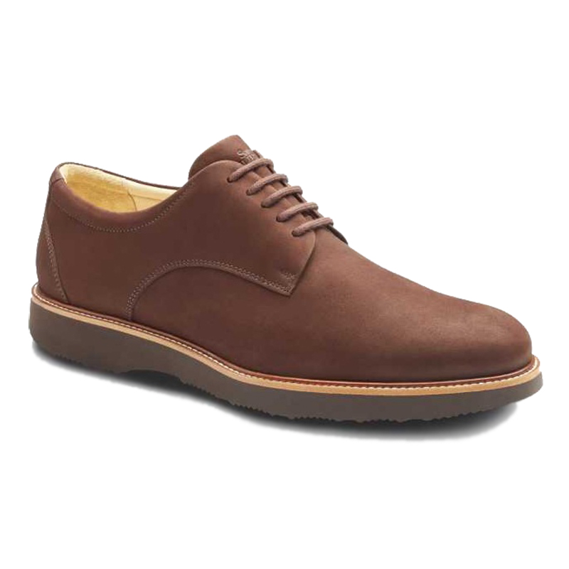 Samuel Hubbard Bucks Plain Toe Shoes Dark Brown Image