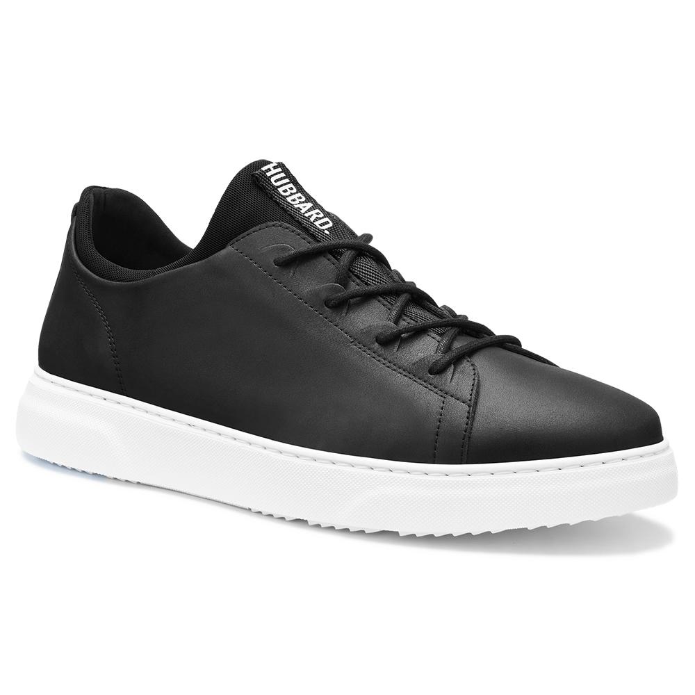 Samuel Hubbard Flight Leather Sneakers Carbon Black / White Image