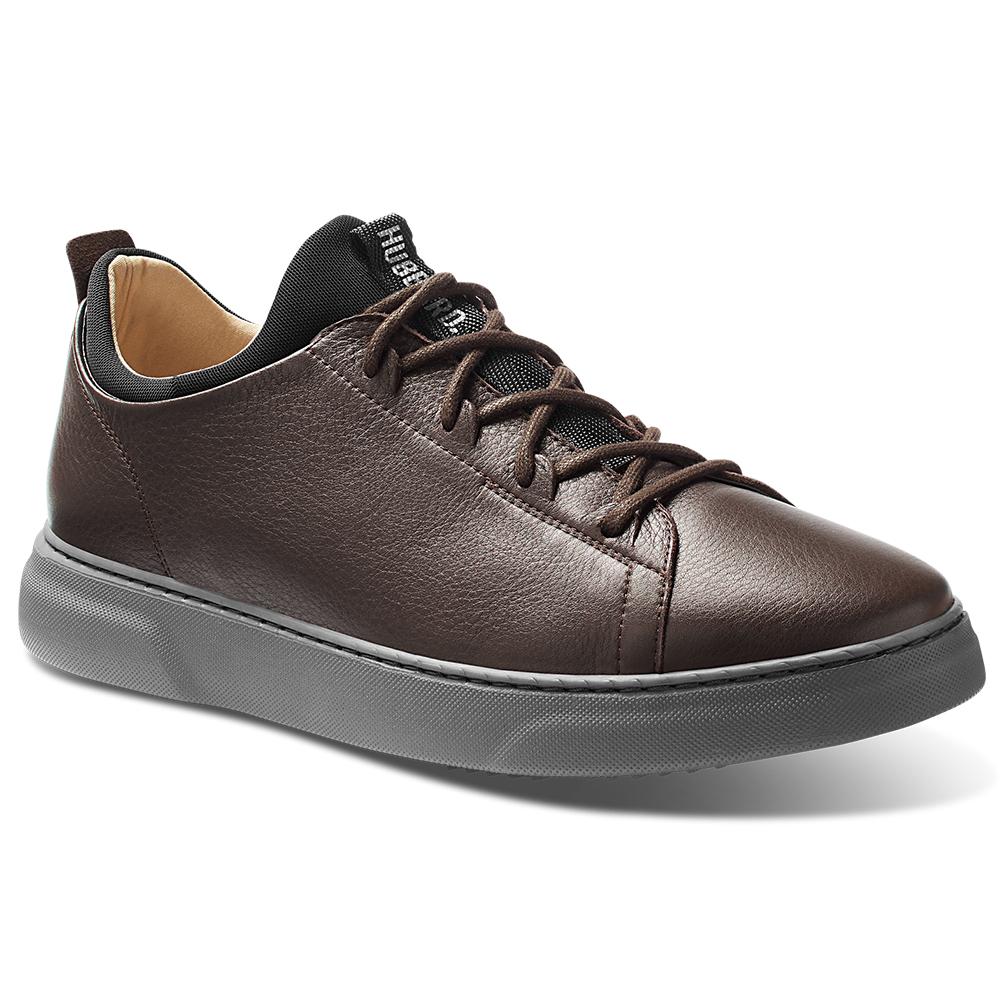 Samuel Hubbard Flight Leather Sneakers Espresso Brown / Dark Gray Image